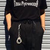 創意個性金屬手銬褲鏈潮男女飾品非主流嘻哈街舞腰鏈蹦迪