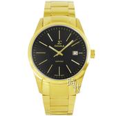 【台南 時代鐘錶 SIGMA】簡約時尚 藍寶石鏡面時尚腕錶 9814M-G1 金/黑 41mm 平價實惠好選擇