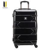 SUMDEX   鏡面橫紋行李箱/登機箱25吋(黑色) SWR-1572RB(黑色)