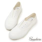 訂製鞋 百搭無綁帶設計帆布休閒鞋-山打努SANDARU【2388339】白色下單區