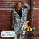 暴風雨衣成人大碼防水時尚迷彩雨衣外套騎行徒步長款雨披【創世紀生活館】