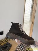 馬丁靴女英倫風  新款百搭時尚鬆糕厚底增高透氣ins短靴女 歐韓流行館