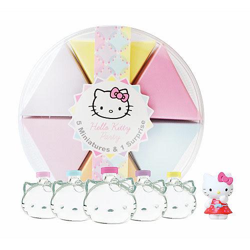 Hello Kitty Party 派對蛋糕淡香水禮盒 (小香 5ml × 5入+ Kitty 公仔)