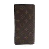 【台中米蘭站】全新品 Louis Vuitton Brazza系列 Monogram帆布對開長夾(M66540-咖)