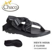 【速捷戶外】美國Chaco  MEGA Z CLOUD 越野紓壓運動涼鞋 男款CH-ZLM03HE03 -標準(交織黑)