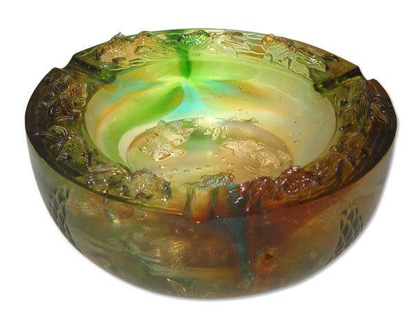 鹿港窯~居家開運琉璃煙灰缸【歡愉滿堂】附精美包裝◆附古法製作珍藏保證卡◆免運費送到家
