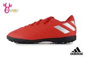 adidas童足球鞋 男童足球鞋小釘足球鞋NEMEZIZ 19.4 TF運動鞋足球鞋 R9349#橘色◆OSOME奧森鞋業