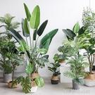 北歐國度室內仿真大型綠植盆景旅人蕉龜背竹葉ins風落地盆栽擺件 【優樂美】