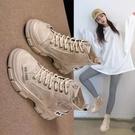 馬丁靴女英倫風2021年新款春款女鞋春秋單靴百搭靴子瘦瘦短靴爆款一米陽光