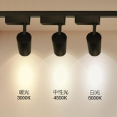 led燈 led射燈服裝店鋪商用軌道燈超亮明裝聚光導軌式條 服裝店節能暖光 LX曼慕
