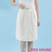 【RED HOUSE 蕾赫斯】素色剪裁A字裙(共三色) 任選2件899元