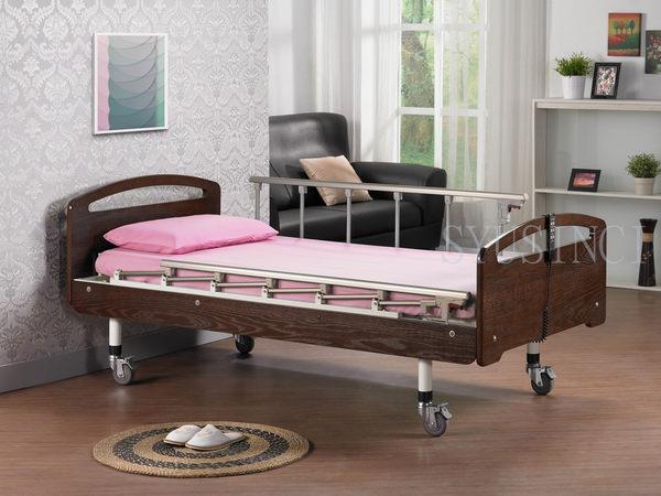 電動病床 / 電動床 / 立明 / F-01一般居家木飾板型單馬達床-LA / 贈床包組×2+防水中單×1