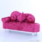 歐式貴妃椅美人榻店鋪小沙發懶人布藝沙發小戶型臥室沙發椅貴妃凳 樂活生活館