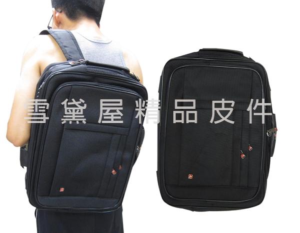~雪黛屋~OVER-LAND公事包中容量二層主袋可A4資料夾電腦手提肩背斜側背後背防水尼龍布層T5081