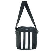 Adidas黑色經典三條線方包側背包-NO.FL1750
