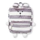 【五折出清】宇宙人後背包 迷你 宇宙人 絨毛後背包 灰白條紋熊 日本正版 該該貝比日本精品