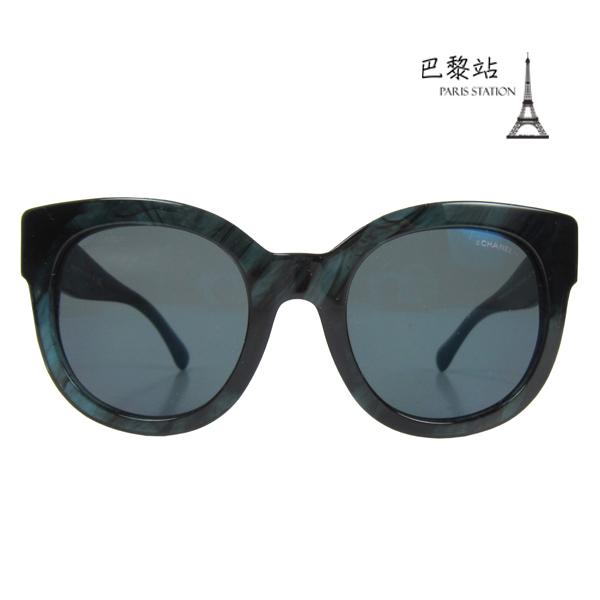 【巴黎站二手名牌專賣店】*現貨*CHANEL 香奈兒 真品*CH5358 側框雙C雕花 粗框墨鏡太陽眼鏡