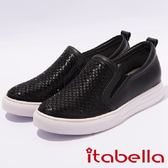 ★2017春夏新品★itabella.造型格紋排鑽休閒鞋(7231-98黑)