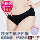 女性無縫低腰三角褲 超細纖維 超薄 透氣 台灣製 no.6896 (3件組)-席艾妮SHIANEY