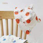 爬爬夏季新品棉紗布嬰兒遮陽帽寶寶帽子太陽帽薄帽防曬帽 原本良品