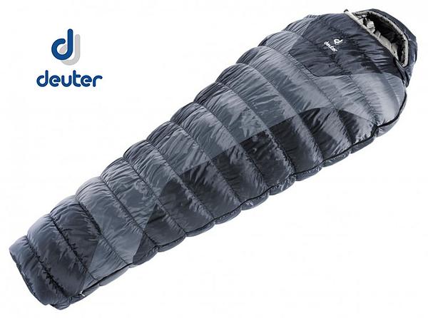 丹大戶外用品 德國【Deuter】Exosphere -8° 變形蟲睡袋 37660 灰/黑
