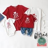 韓版夏款大碼T恤親子裝一家四口夏裝母子母女【聚可爱】