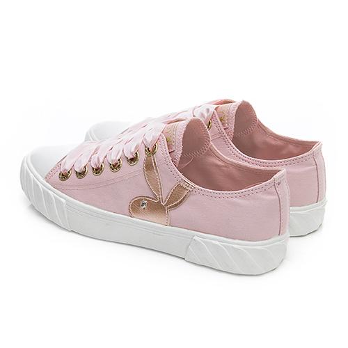 PLAYBOY 潮流簡約帆布餅乾鞋-粉