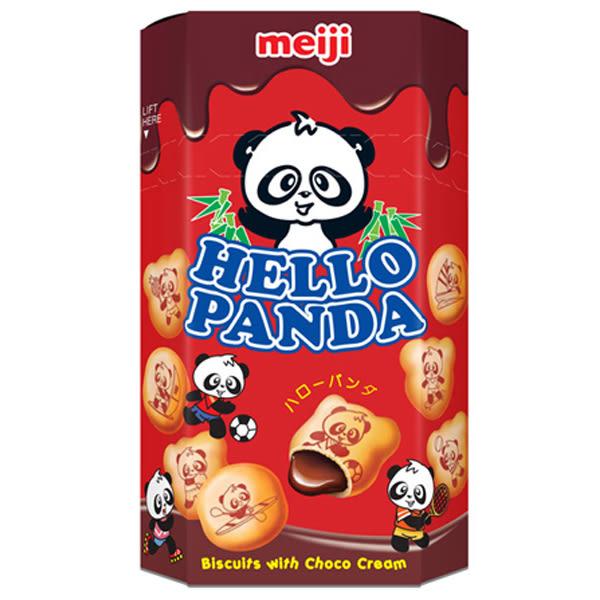 Meiji 明治 貓熊夾心餅乾(巧克力)50g【小三美日】進口 / 團購 / 零嘴