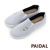 Paidal 保特紗厚底休閒鞋加硫鞋-貓頭鷹