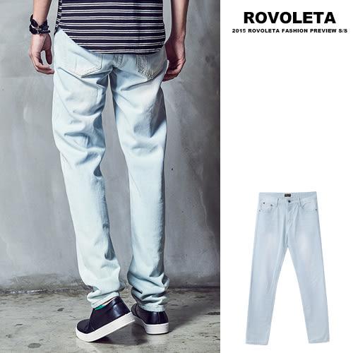 漂白直統牛仔褲【UN-1885】(ROVOLETA)