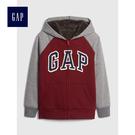 Gap男童 logo舒適襯裡長袖連帽外套 496787-酒紅色