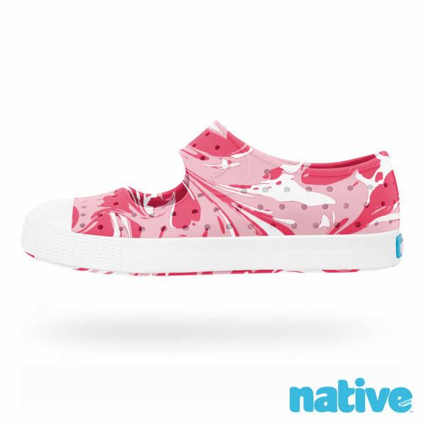 native 幼童 JUNIPER CHILD 小羅莉 EVA輕量認證無毒 懶人晴雨休閒鞋-草莓泡泡糖 8415