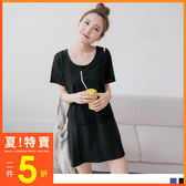 OB嚴選《DA3414-》兩件式透膚圓頂Tx棉感背心洋裝.2色--適 S~L
