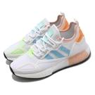 adidas 休閒鞋 ZX 2K Boost W 白 藍 女鞋 三葉草 運動鞋 【ACS】 H06578