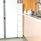 超窄夾縫置物架廚房冰箱18cm縫隙床邊窄櫃衛生間抽屜式夾縫收納櫃 NMS喵小姐