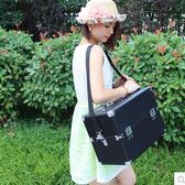 38cm三層超大號韓版化妝箱專業跟妝手提箱肩帶包。放捲發棒