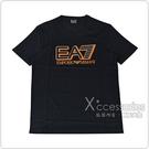 EMPORIO ARMANI印花橘字LOGO純棉短袖T恤(S/M/L/XL/黑)