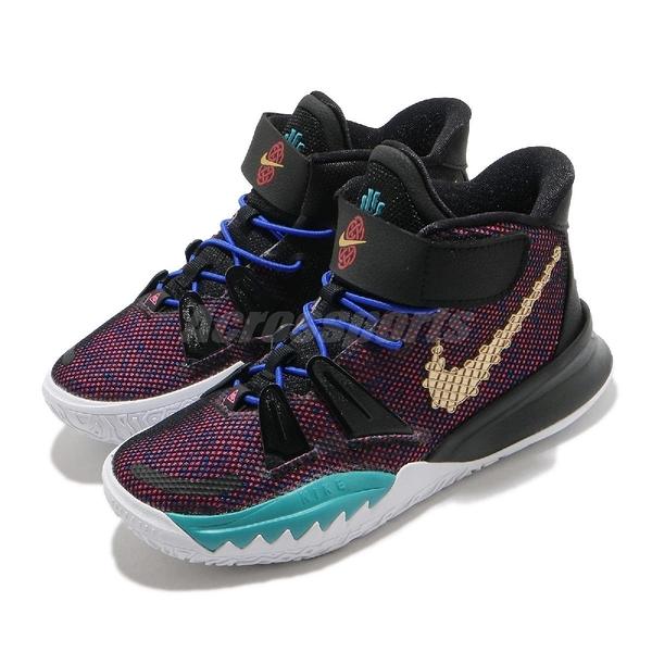 Nike 籃球鞋 Kyrie 7 CNY PS 紫 黑 金 中國新年 中國結 小朋友 童鞋 【ACS】 CW3240-001