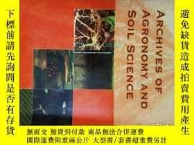 二手書博民逛書店外文雜誌罕見Archives of Agronomy and S
