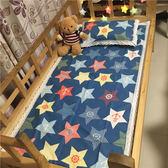 兒童床小帆布床單幼兒園用粗布涼席男孩女孩卡通老粗布床單兩件套第七公社