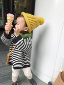 嬰童裝寶寶秋裝女童套頭慵懶條紋毛衣1-3歲兒童針織打底衫