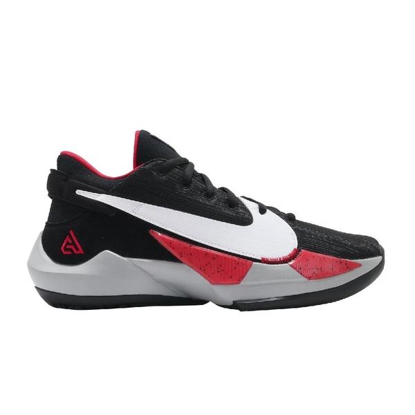 Nike 籃球鞋 Zoom Freak 2 EP 黑 紅 白 男鞋 字母哥 XDR 耐磨【ACS】 CK5825-003