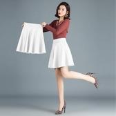 百褶裙 夏季白色半身裙女高腰打底短裙超火a字大碼百褶裙子-Ballet朵朵