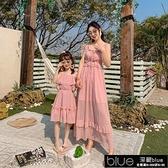 秋款女裝新款親子長裙2020年潮氣質顯瘦女裙海邊度假裝洋氣連【全館免運】