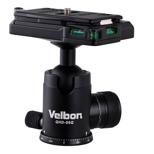 Velbon QHD-S6Q 球型雲台 直徑44mm 高106mm  重量370g  乘載10kg【公司貨】