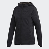 ADIDAS FREELIFT CLIMAHEAT 女裝 外套 連帽 休閒 保暖 吸汗 黑【運動世界】DM4398