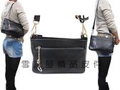 ~雪黛屋~ITALI-DUCK手提肩背包小容量100%牛皮革附活動型長背帶台灣製造主袋內二拉鍊暗袋二隔層ID7129