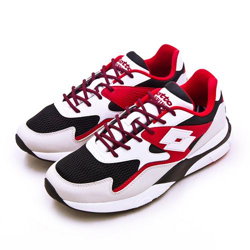 LIKA夢 LOTTO 經典厚底復古多功能運動鞋 SIRIUS 老爹鞋系列 白黑紅 1212 男