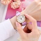 手錶女學生簡約韓版時尚2020新款防水大氣中小學生指針石英電子錶  一米陽光