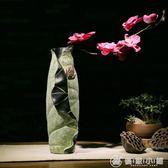 創意中式家居裝飾品荷葉花插 客廳電視櫃玄關幹花器花瓶臺面擺件 優家小鋪